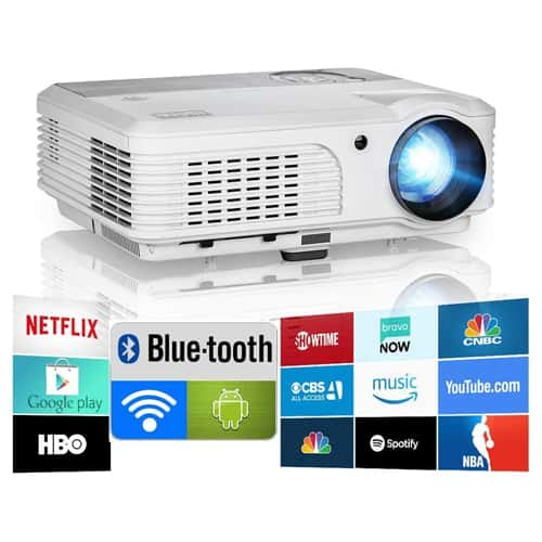 01. Bluetooth Projector WiFi Android 1080P LCD LED
