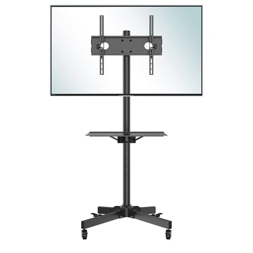 06. BONTEC Mobile TV Cart Rolling TV Stand
