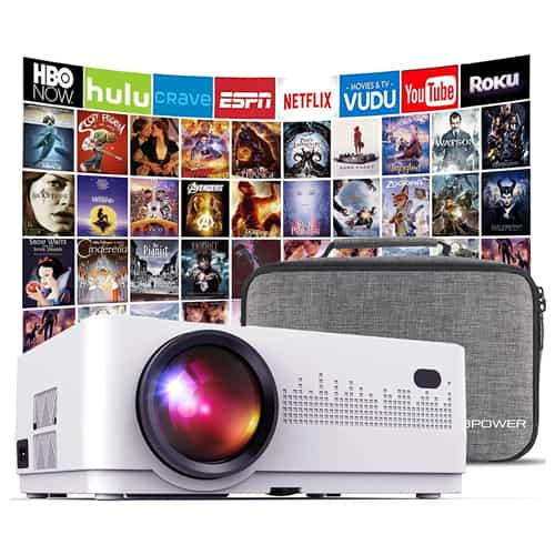 10. DBPOWER L21 LCD Video Projector